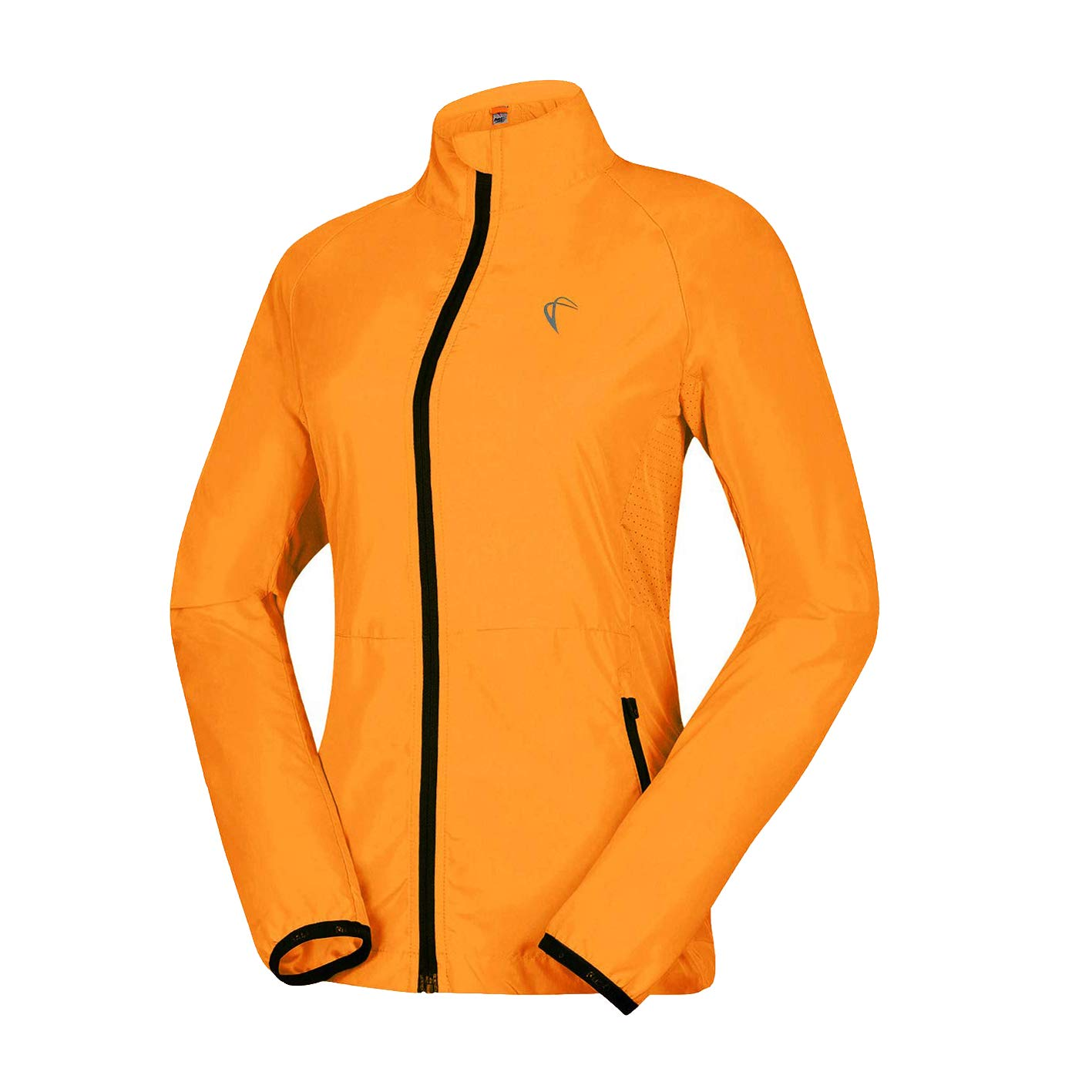 J.CARP Women's Packable Windbreaker Jacket, Super Lightweight and Visible, Outdoor Active Cycling Running Skin Coat, Visual-Lemon L by J.CARP