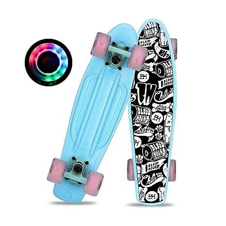 LINGLING-Skateboard Skateboard - Patinete Profesional con 4 ...