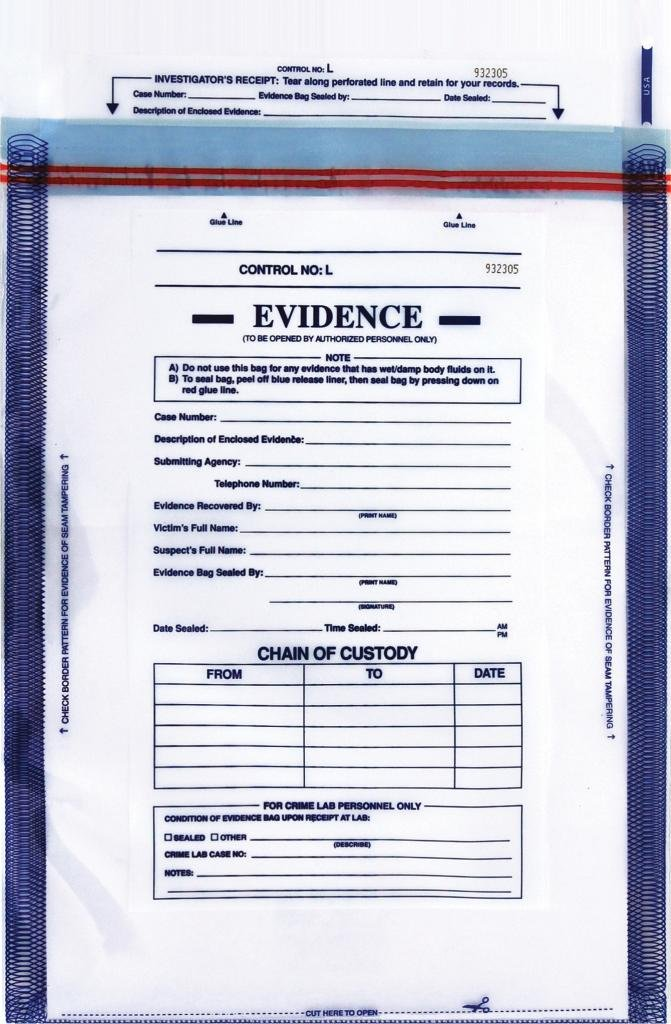 Evidence security bag 12'' x 15'' by Tritech Forensics