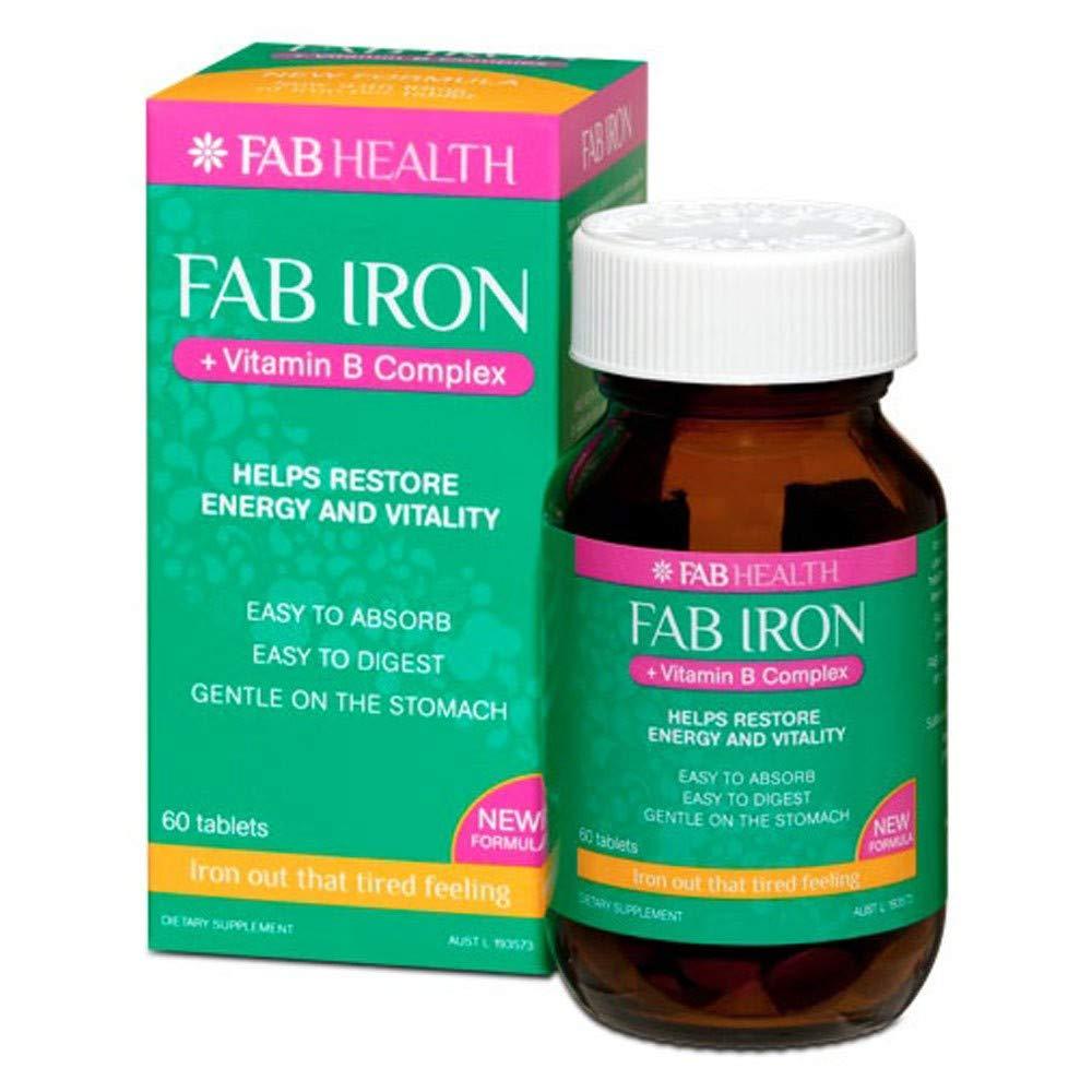 Fab Iron + Vitamin B Complx 60 Tablets