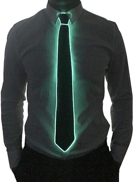 Burning Man Light Up Fanny Ties Novelty Necktie For Men LED Light Up Ties Costume Accessory