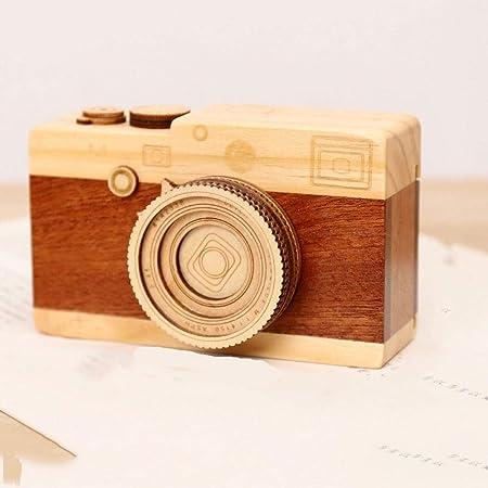 Cajas Musicales Caja De Música Hecha A Mano Decoración para El Hogar Figuras Modelo De Cámara De Madera Mecanismo Tipo Artesanía Regalo De Cumpleaños Creativo Exhibición Adorno A como Regalo para: Amazon.es:
