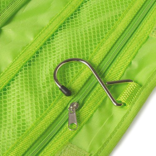 TOOGOO (R) Neceser de Viaje de lona Bolsa colgante plegable Organizador (Verde)