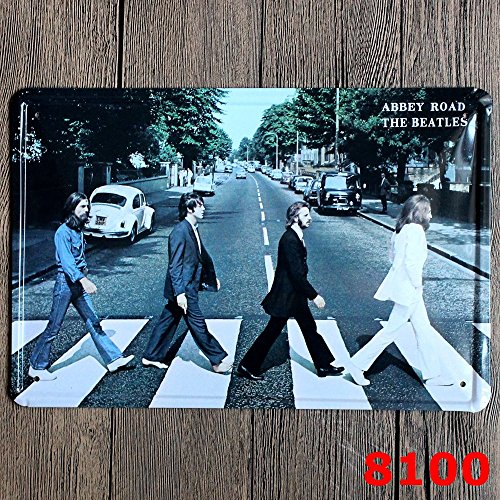 Club Tin Sign (Gent Multi-series Retro Home Bar KTV Club Signs Vintage Tin Sign Abber Road the Beatles Decorative Signs 7.9in11.8in(20cm30cm))