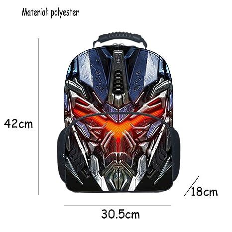 3D Transformers Mochila Escolar Para Niños Adolescentes Ligeros Mochilas Para Niños Y Niñas Bolsas Escolares De 8-15 Años,Blue-42 * 30.5 * 18cm: Amazon.es: ...