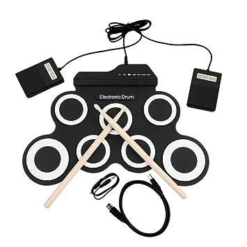 Batería electrónica USB Drum G3002 Drum Kit Drum Set Instrumento de percusión para niños engrosada de silicona plegable Roll-up: Amazon.es: Instrumentos ...