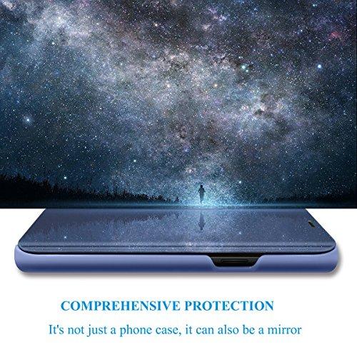 8 Grip Blu Hard Sottile Clear per Custodia Antiurto note8 Scratch View ltra Samsung Note specchietto Anti Cover per Galaxy Custodia Standing Mobile Eccellente gPHWw7qxBI