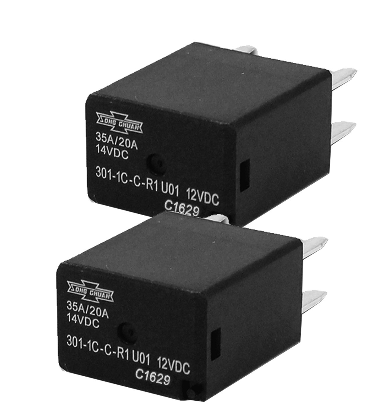Amazon.com: Song Chuan Automotive Relays SPDT 35A 12VDC ( Pack of 2 ):  Industrial & Scientific