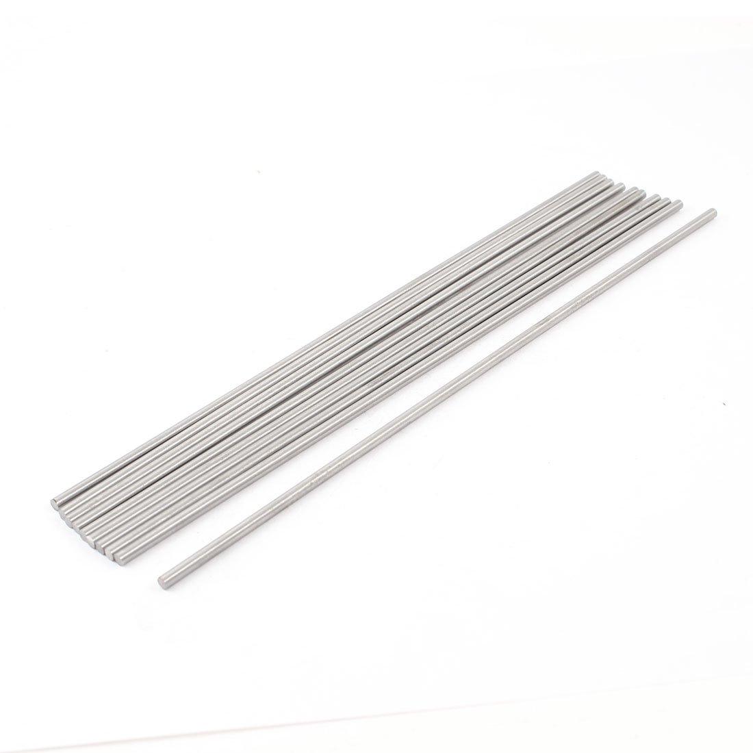 10 PCS 3mm Diameter 200mm Long Boring Tool Round Turning Lathe Bars Sourcingmap a14021900ux0107