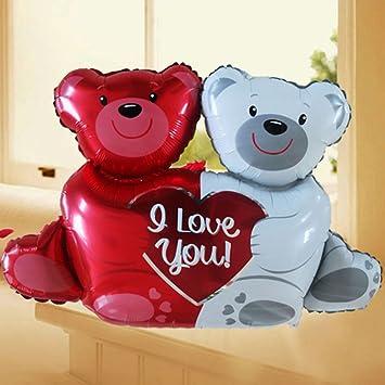 Globo Balón hinchable ositos osos corazón amor San Valentín ...