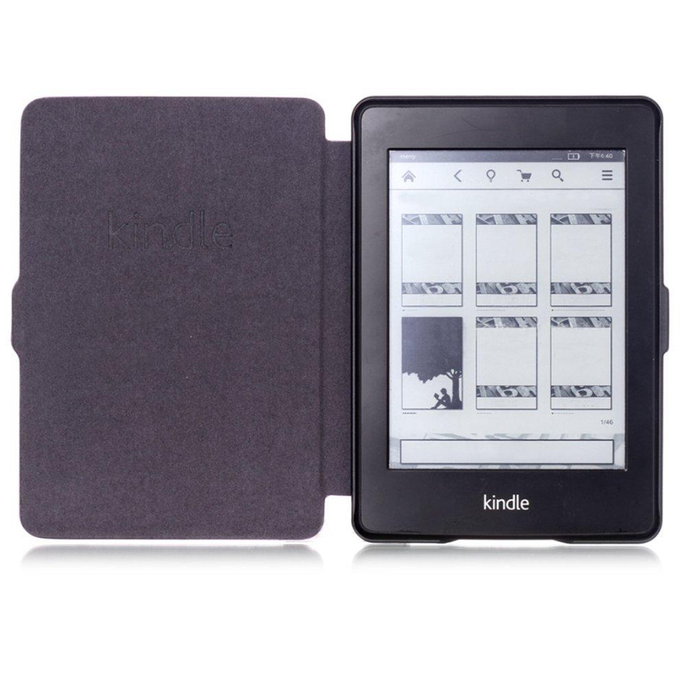 Westeng Funda Protectora para Kindle Paperwhite 1//2//3 Generaci/ón Funda de Cuero Kindle Rojo