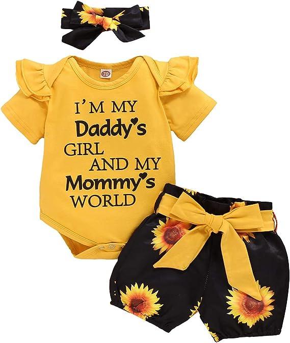 topseller-hzy 0-24M Baby Tie Dye Clothes Set Jumpsuit Pants Hat Home Fashion Set