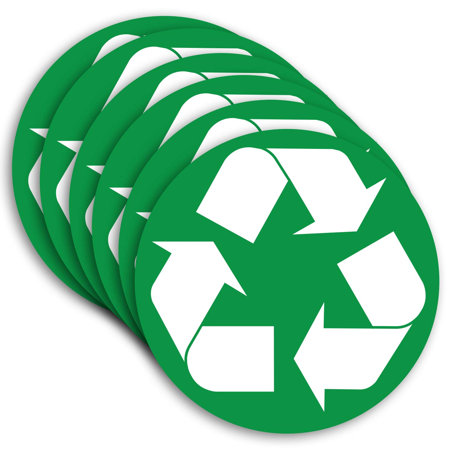 Amazon Recycle Sticker For Trash Can Bins Sign Decal 6 Pack