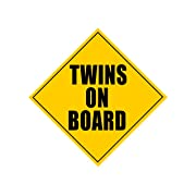 Zone Tech Twins On Board Safety Sign Children Magnet
