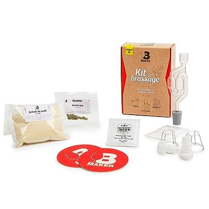 B Maker Kit Biere Idee Cadeau Homme Femme Spécial Débutant 1h30 De Préparation Kit Brassage Biere A Faire Soi Meme Fabriquer Sa Bière
