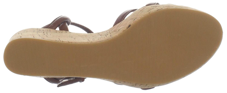 Tahari Women's Sabrina Wedge Sandal B004MLFR74 6 B(M) US|French Cognac