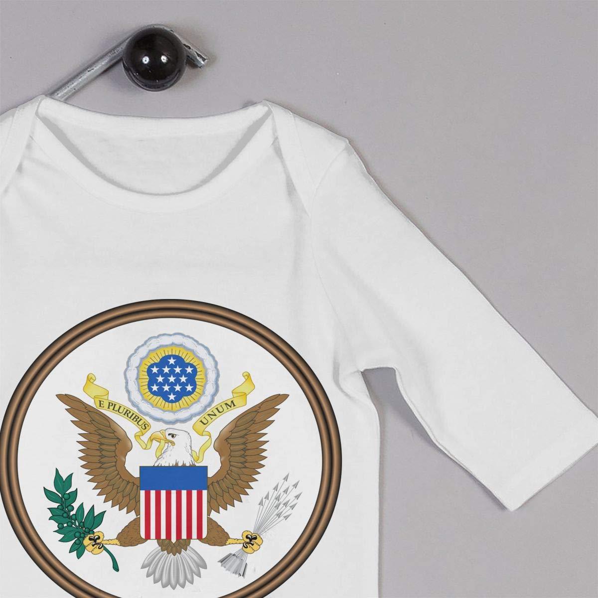 Comorerne Flag Fingerprint Unisex Long Sleeve Baby Gown Baby Bodysuit Unionsuit Footed Pajamas Romper Jumpsuit