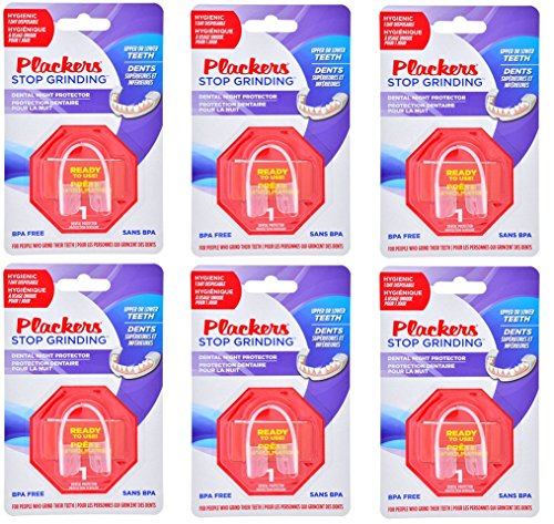 Multi-Packs Plackers Stop Grinding Disposable Dental Night Protector (6-Pack) by Plackers