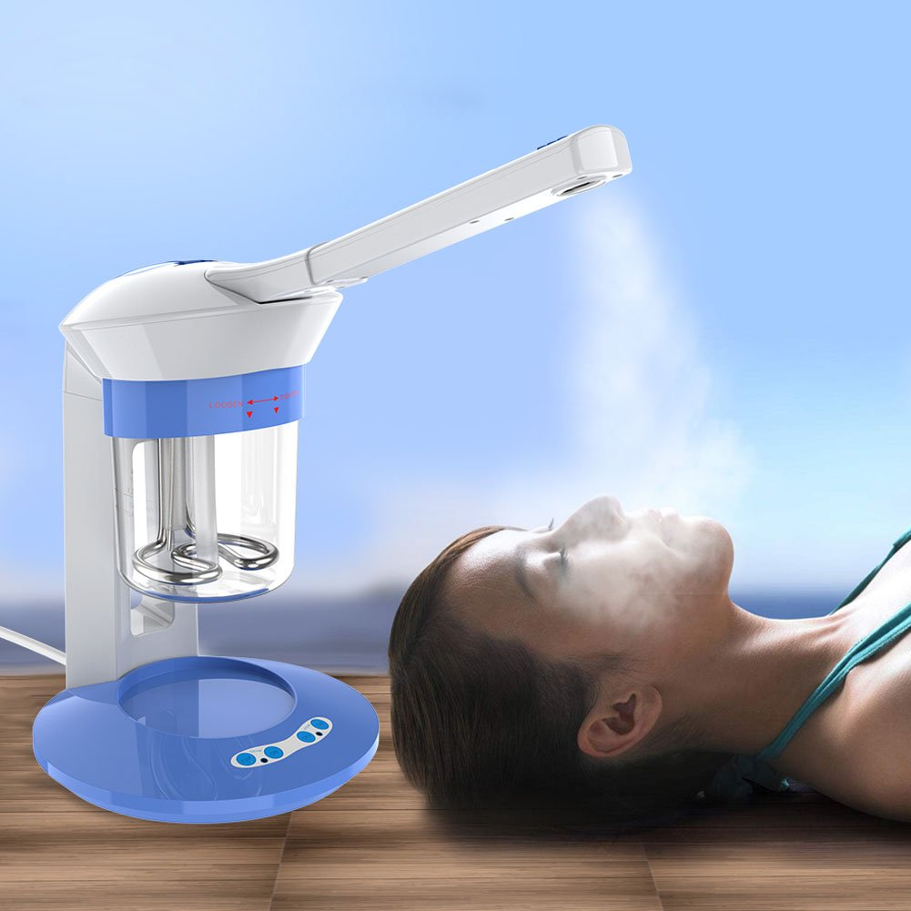Facial Steamer, Professional Automatic Face Steamer Ozone Facial Humidifier Hot Mist with 360° Rotatable Spray Pipe Greensen