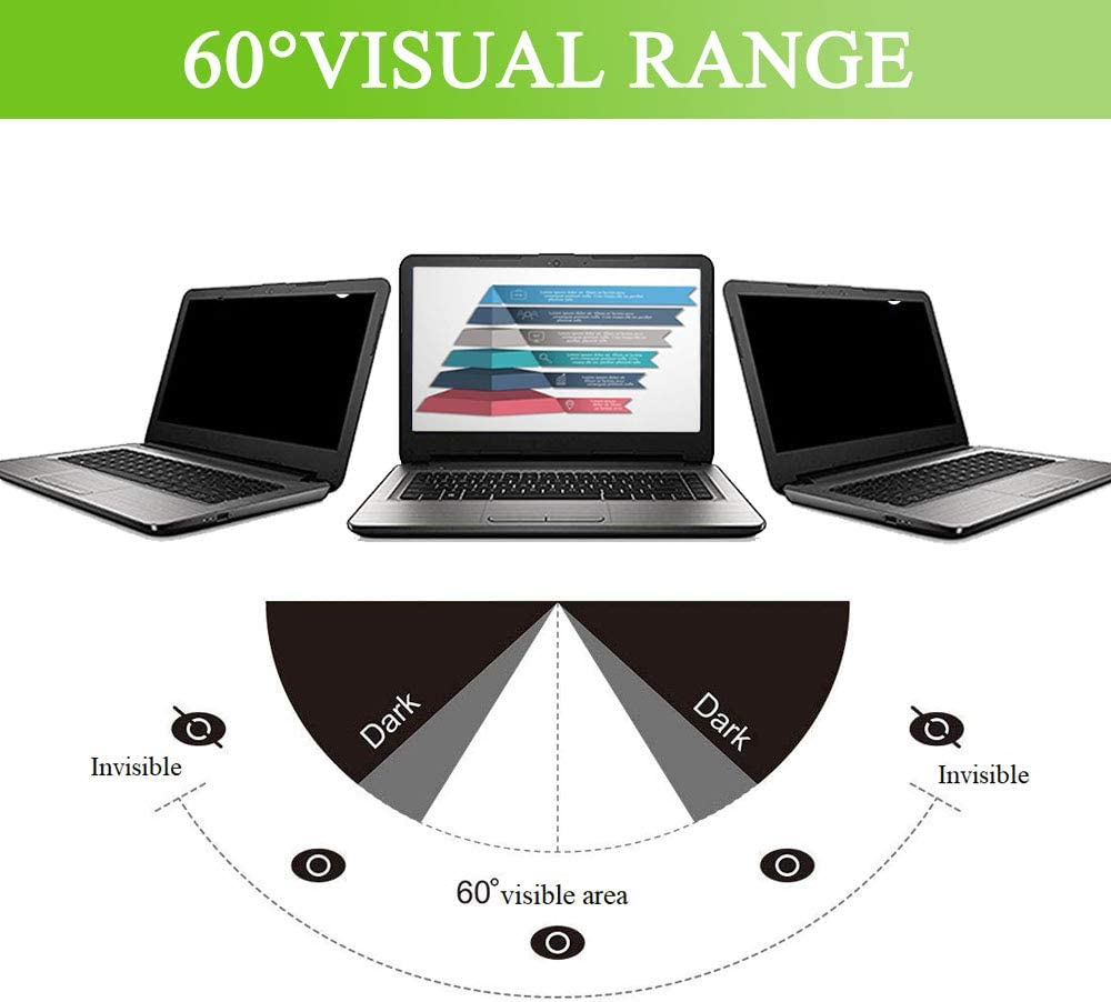368 x 230 mm KONEE Filtro de Privacidad Premium para 17.0 Pulgadas Laptops 17.0 16:10 Eliminaci/ón F/ácil Anti-Glare Filter Film Widescreen Pantalla de Privacidad Filtro