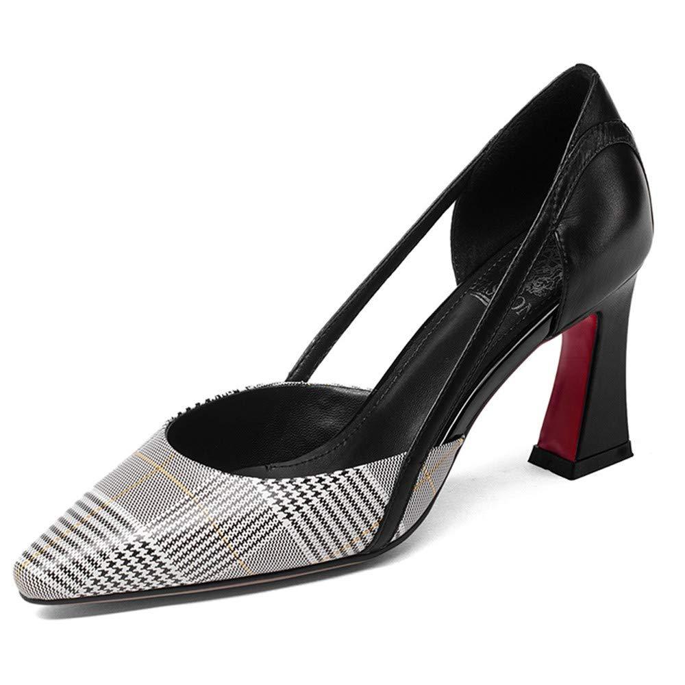 schwarz schwarz WuZhong F Damen Spitzschuh Stilettos High Heel Slipper Pumps Pumps Closed Toe Bequeme Partyschuhe  Online-Shopping-Sport