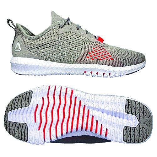 Reebok Whisper Fitness Red Chaussures Femme Atomic Flexagon White Multicolore de Grey 000 Spirit TnrOTxY