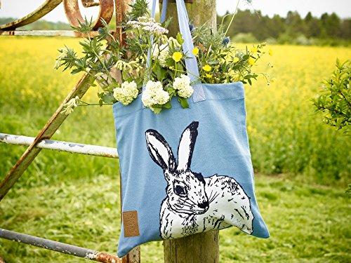 la Azul Tops Bag Wild Liebre en Tote Creative qw741xaE1