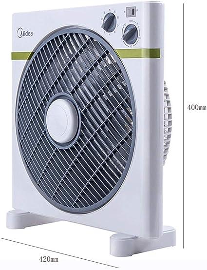 Ventilador eléctrico Cuadrado 12 Pulgadas de Escritorio Hogar Silencio Ventilador mecánico de Escritorio pequeño Ventilador eléctrico: Amazon.es: Hogar