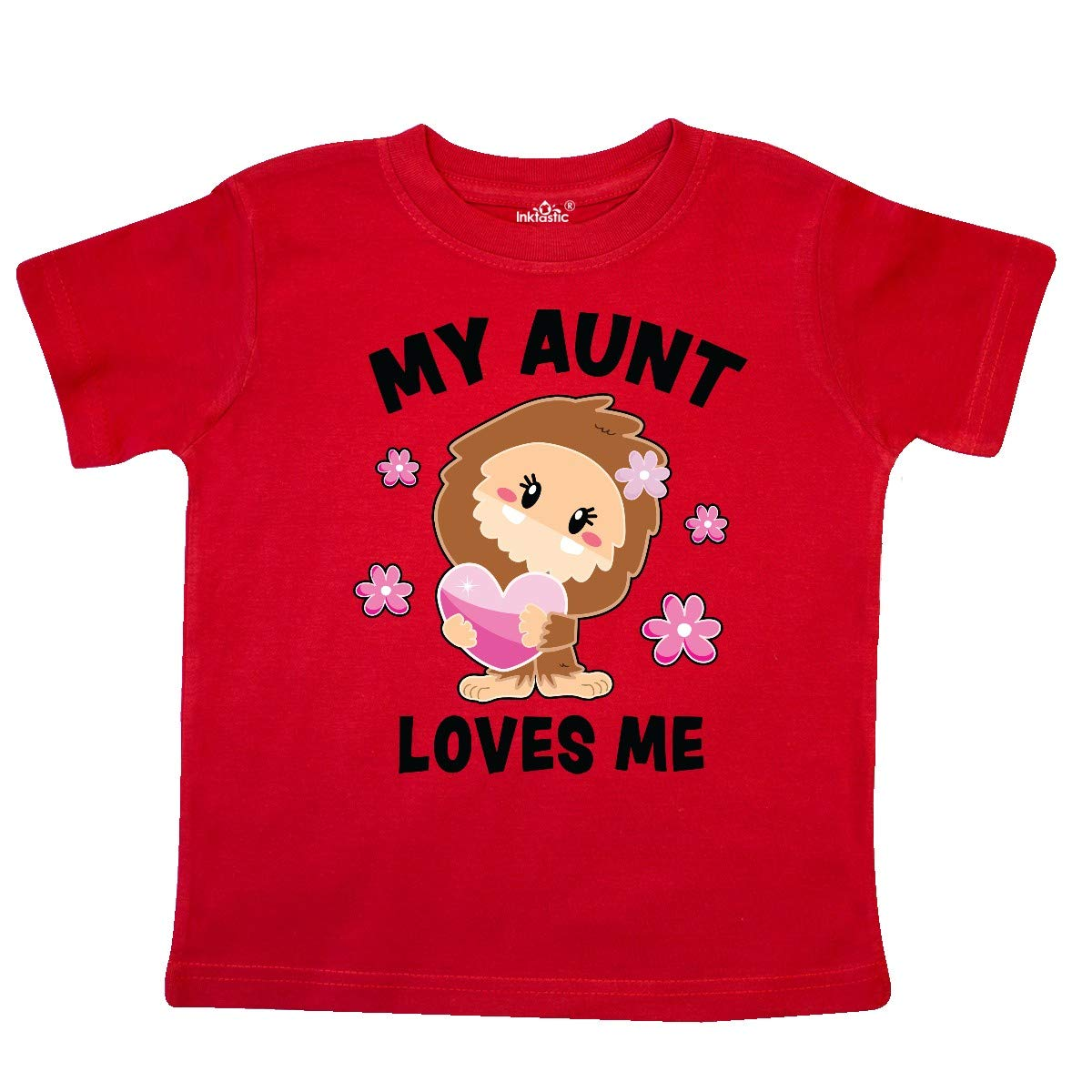 inktastic My Aunt Loves Me with Bigfoot Toddler T-Shirt