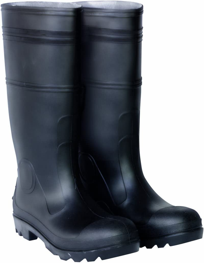 "Servus Comfort Technology 14"" PVC Soft Toe Men's Work Boots, Black (18822)"