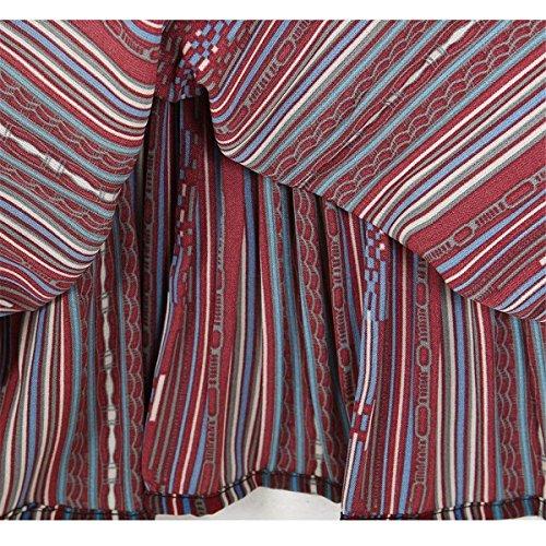 Nahen Colpo Moda Eleganti Semplice Haidean Casual Pantalone Taille Pantaloni Libero 3 Violett Estivi Verticali Larghi Tempo Strisce 4 Glamorous Donna qwa6XrIaWv