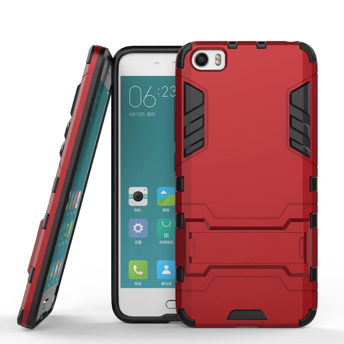 Xiaomi Mi 5 Funda Case, Moonmini® 2 en 1 Armour estilo duro de ...
