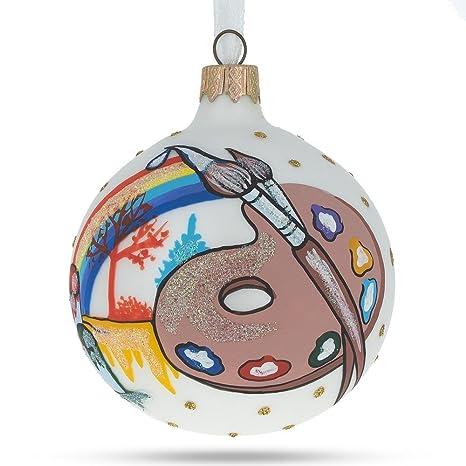 Artist Christmas Ornaments.Amazon Com Bestpysanky Artist Glass Ball Christmas Ornament