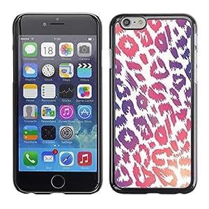 For Apple iPhone 6(4.7 inches) Case , Pattern Purple Pink White Fur - Diseño Patrón Teléfono Caso Cubierta Case Bumper Duro Protección Case Cover Funda