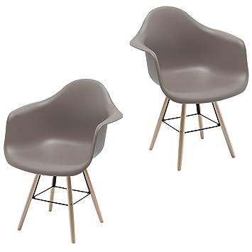 Fauteuil Rtro Ralisateur Coque Chaise Pop Art Deco De Salle Manger Chaises En Bois