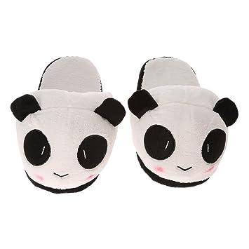 Anself Chaussons Cotons Panda en Peluche Mignon Doux  Amazon.fr ... 4e2628c66873
