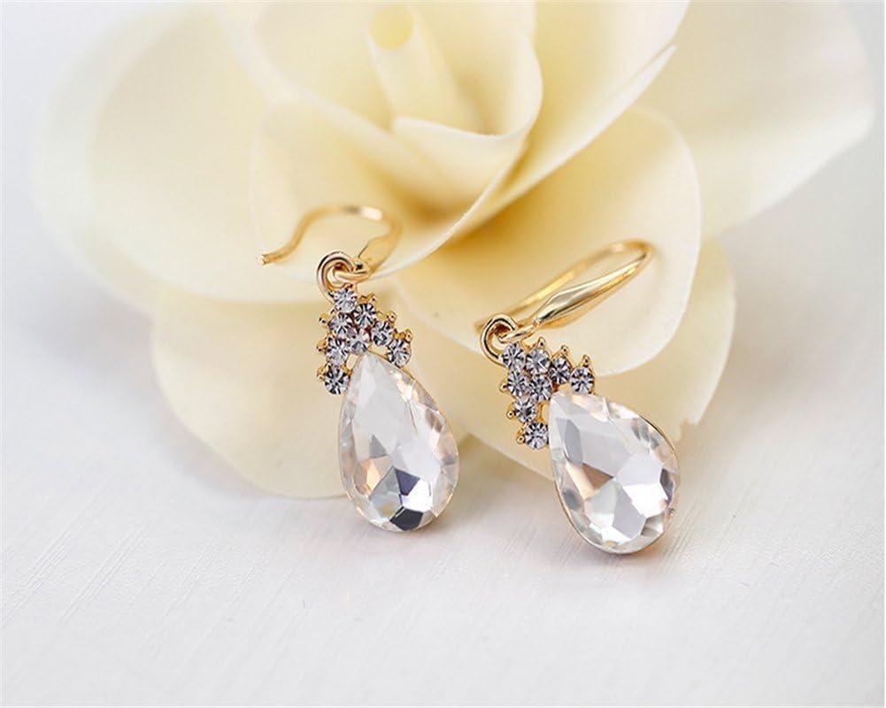 violet /Mode Diamant goutte deau Cristal Femme Bijoux Fablcrew Collier Boucles doreilles parures de bijoux/ Small Alliage