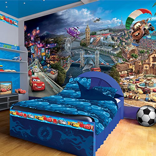 Disney Pixar Cars World Wallpaper (Disney Cars Mural)