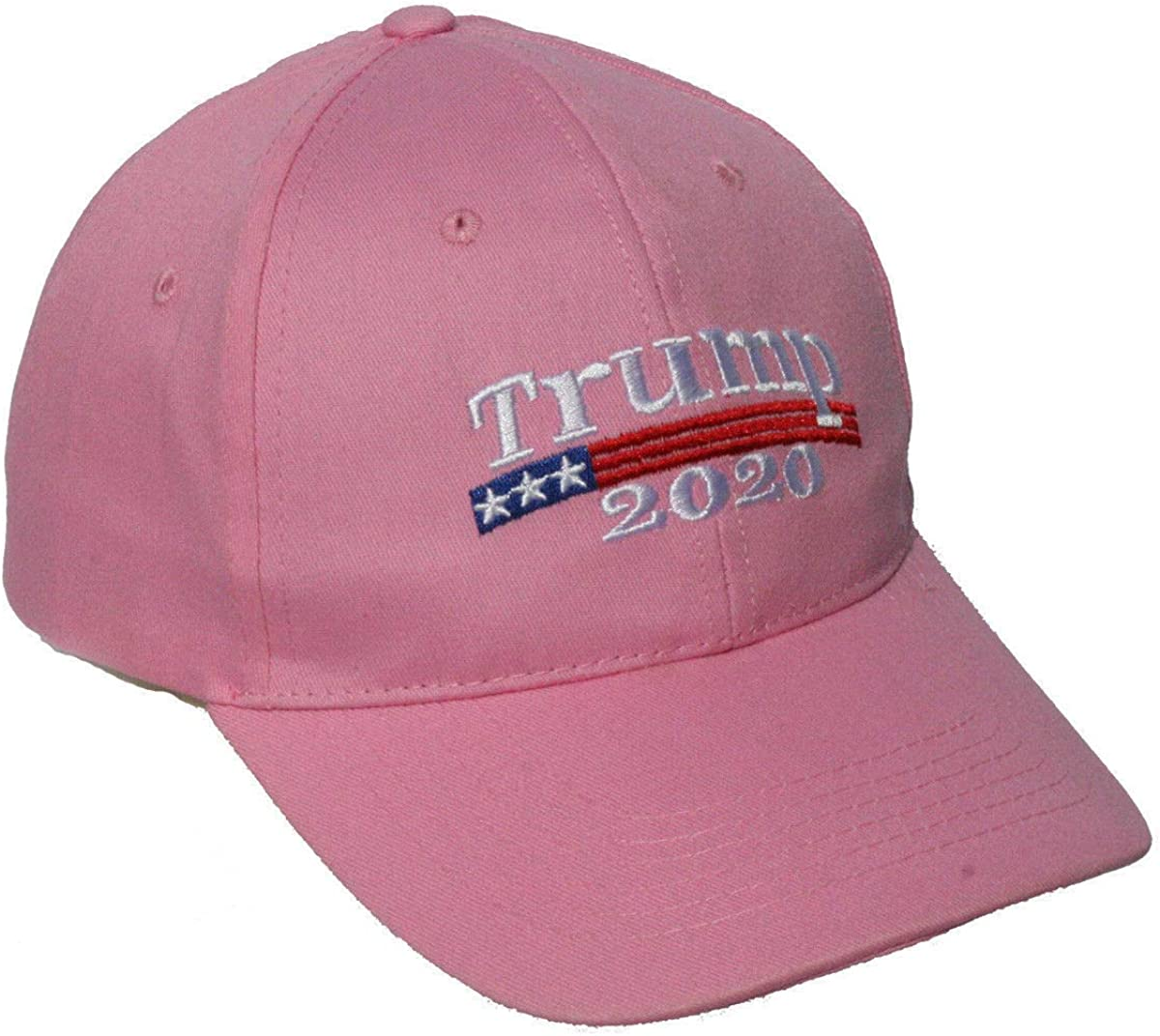 NEW Pink Embroidered MAGA TRUMP 2020 Cap With American Flag
