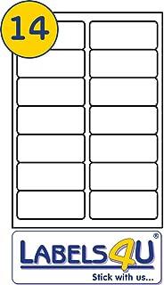 14 Labels Per Page/Sheet, 100 Sheets Self-Adhesive A4