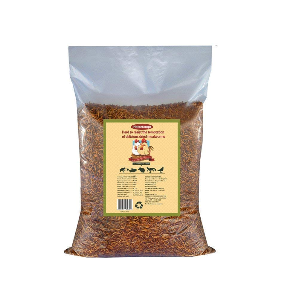 Gardenpt 22 LB Bulk Dried mealworms for Birds food, Chicken Feed, Retiles Food, and more