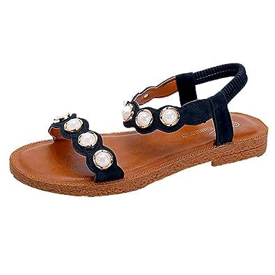 a99ecbfc75 Lolittas Summer Diamante Flat Leather Sandals for Women Ladies, Boho Beach  Walking Glitter Peep Toe Wide Fit Slingback Lace up Low Heel Wedge Platform  Shoes ...