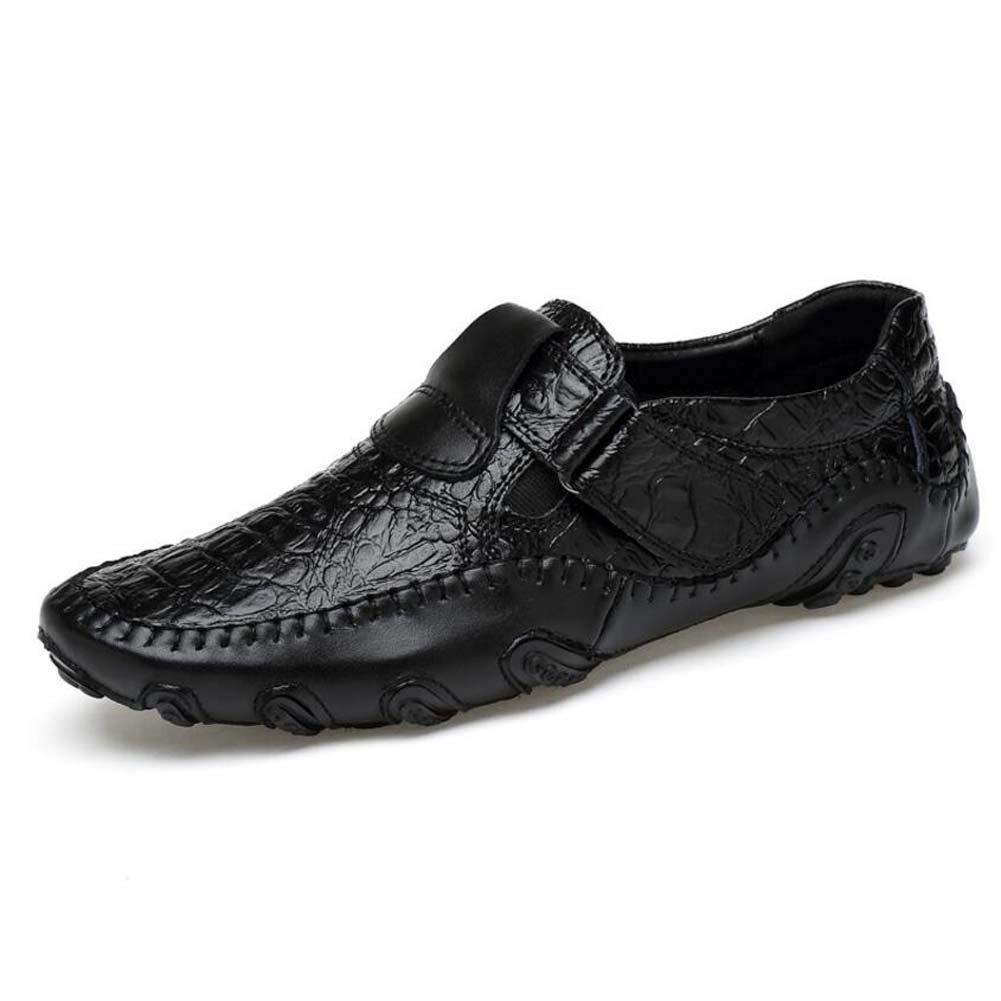 MYI Zapatos de Hombre Cuero sintético Zapatos de Conducción de Primavera de Cuero Zapatos de Confort de Suela Liviana 42 EU|Black