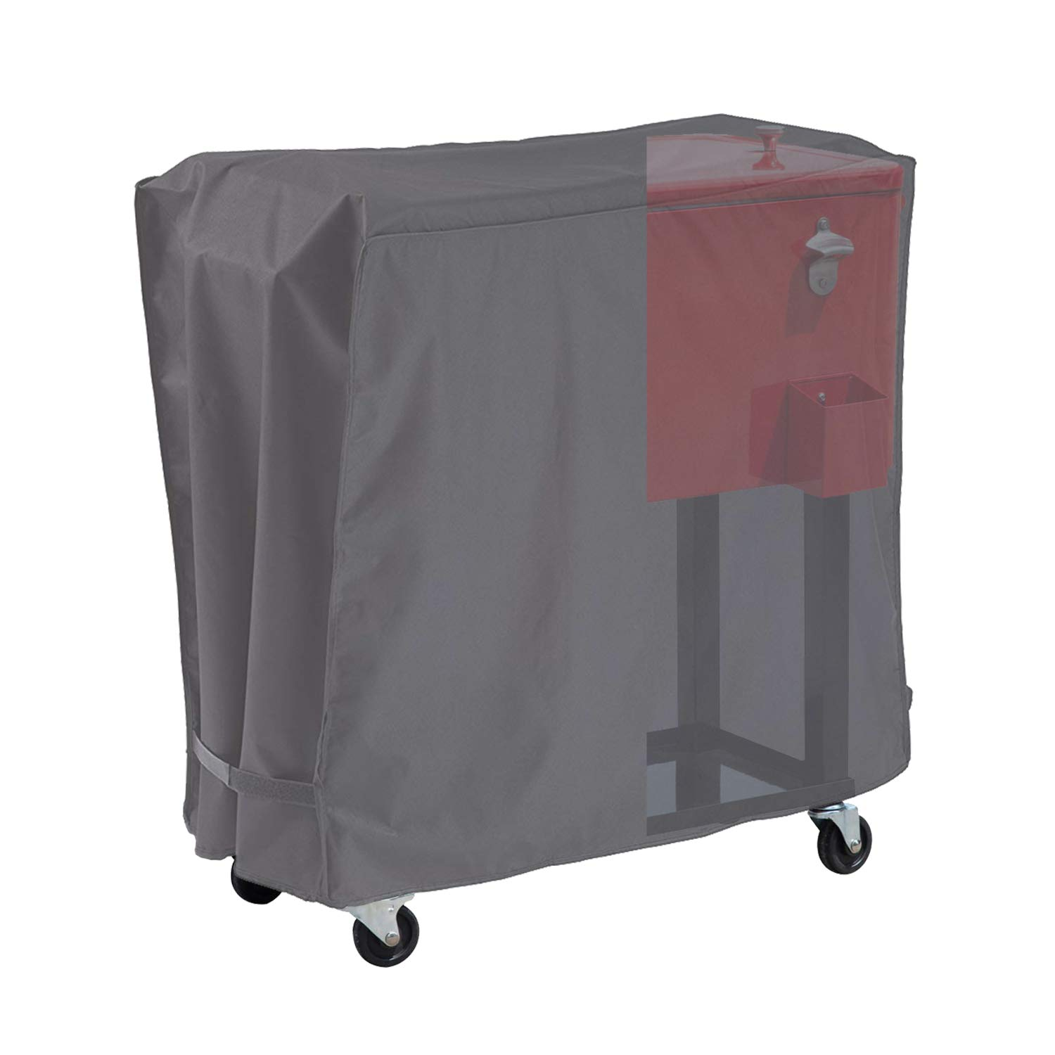 AKEfit Cooler Cart Cover Waterproof Fits Most 80qt Quart Rolling Party Coolers Patio Outdoor Cooler Beverage Cart Ice Chest Gray by AKEfit