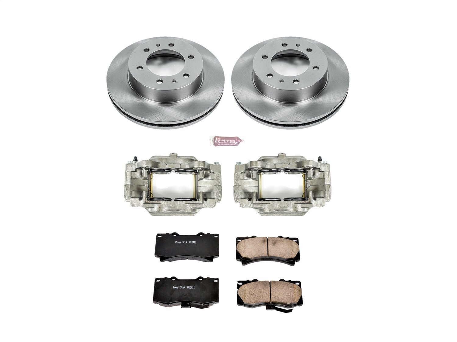 Power Stop KCOE3035 Front Stock Replacement Brake Kit with Calipers