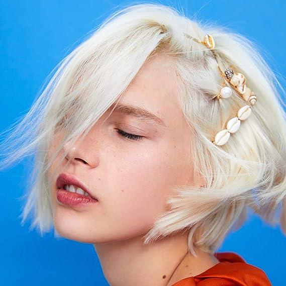 Shell Hair Clips Vacation Beach Sequins Resin Hairgrip Pearl Star Hairpins