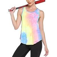 Ekouaer Camiseta deportiva de tirantes para mujer con espalda cruzada, para yoga, fitness, deporte
