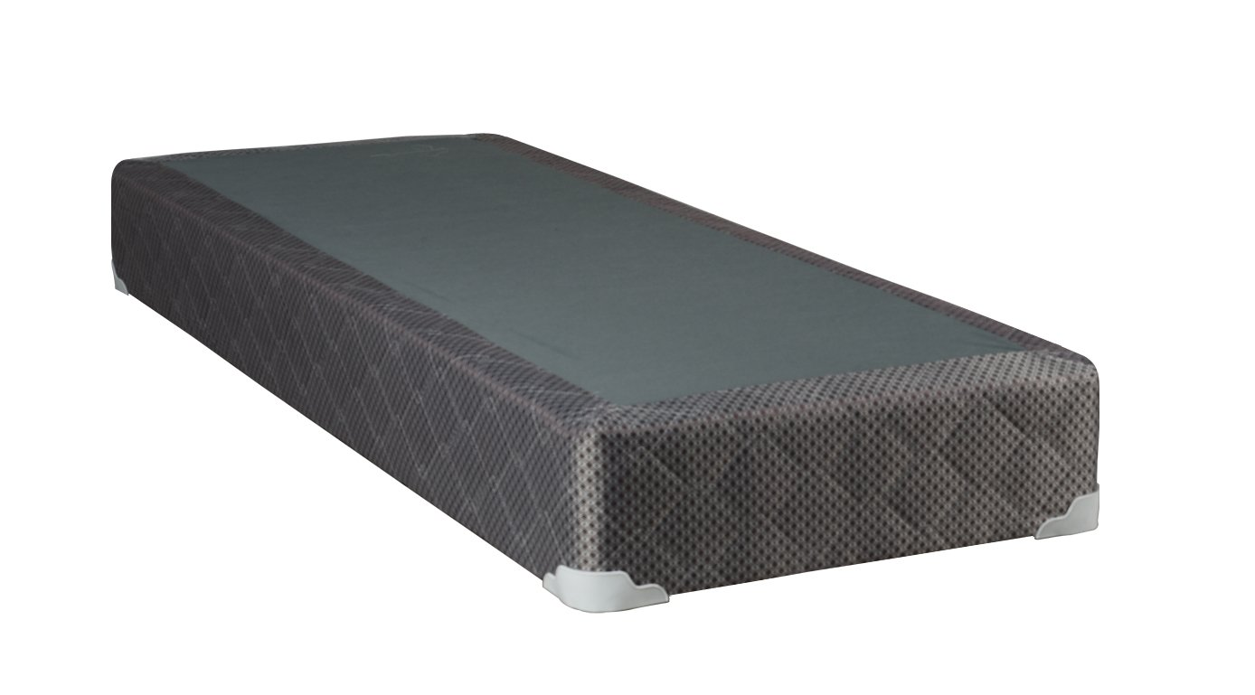 Continental Sleep Fifth Ave Foam Encased 8-Inch Split Box Spring, Queen, White/Brown