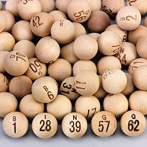 (Wooden Bingo Balls)