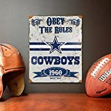 Party Animal NFL Embossed Metal Vintage Dallas